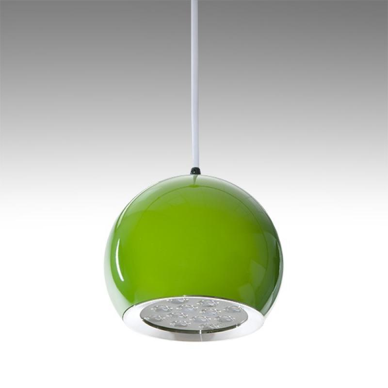 Lámpara LED Suspendida Bola Verde 12W 1100Lm 30.000H Rowan - Imagen 1
