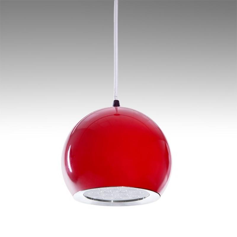 Lámpara LED Suspendida Bola Rojo 12W 1100Lm 30.000H Ana - Imagen 1