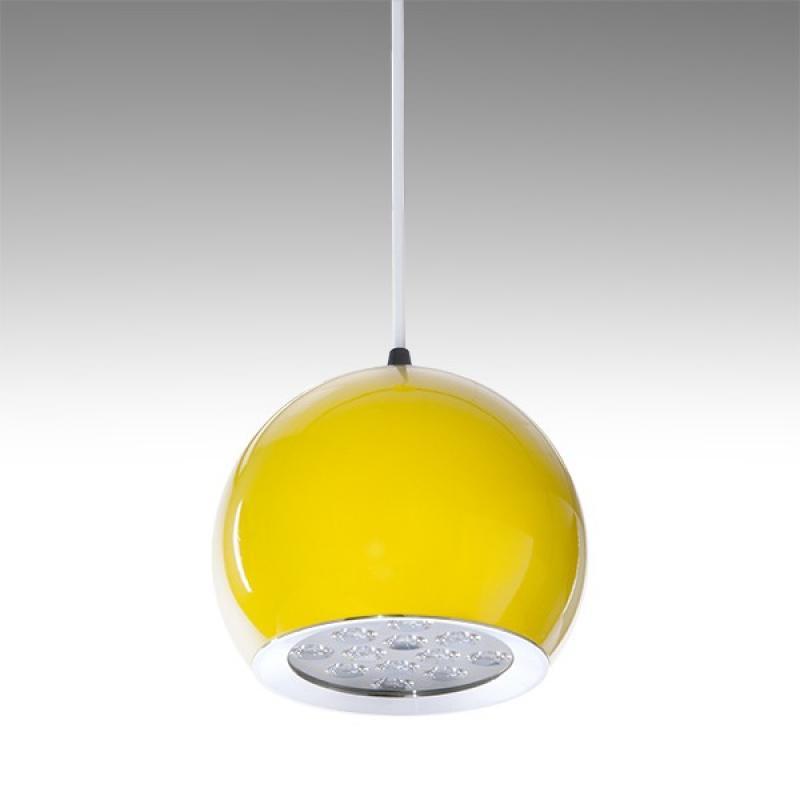 Lámpara LED Suspendida Bola Amarillo 12W 1100Lm 30.000H Amara - Imagen 1