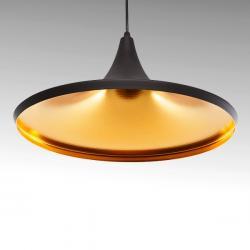 Lámpara Suspendida Aluminio Ø 360Mm (Sin Bombilla) Negro Juliette