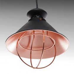 Lámpara Suspendida Aluminio Ø 215Mm (Sin Bombilla) Negro Mariah