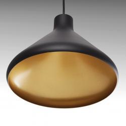 Lámpara Suspendida Aluminio Ø 270Mm (Sin Bombilla) Negro Harley