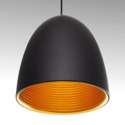 Lámpara Suspendida Aluminio Ø 250Mm (Sin Bombilla) Negro Catherine