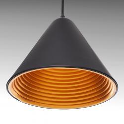 Lámpara Suspendida Aluminio Ø 230Mm (Sin Bombilla) Negro Julianna