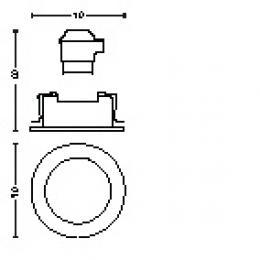 Foco Empotrable Philips Donegal Circular Cromado GU10 - Imagen 2