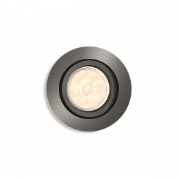 Foco Empotrable Philips Donegal Circular Plateado GU10 - Imagen 2