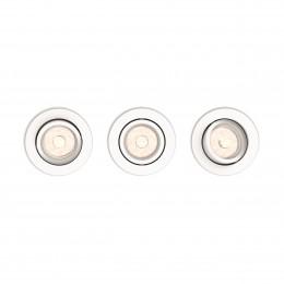 Juego de 3 Focos Empotrables Philips Donegal Circular Blanco GU10 - Imagen 2