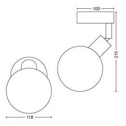Aplique   Philips Net Cromado 1xG9 - Imagen 2