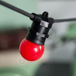 [AM-BT500] Cadena Luminosa - IP65 -Negro - 10xE27 - Cable - Enchufe - 12,5M - Imagen 2