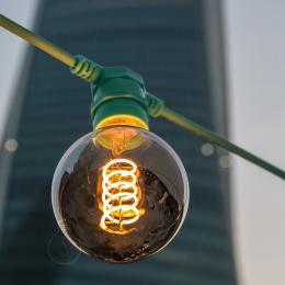 [AM-BT502] Cadena Luminosa - IP65 - Verde Menta - 10xE27 - Cable - Enchufe - 12,5M - Imagen 2