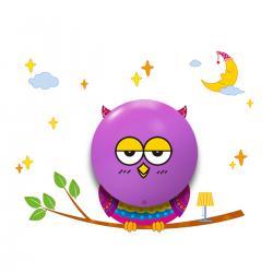 """Aplique """"Owl"""" Pilas 0,6W (3xAAA )  Plástico [MLP-112] - Imagen 1"""