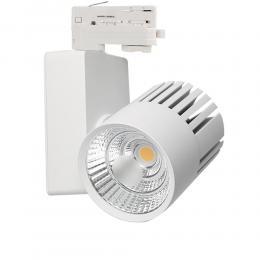 Foco LED 40W GRAZ  Blanco para Carril TRIFASICO BRIDGELUX Chip 100º CRI +90 - Imagen 2