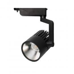 Foco LED 40W PISA Negro para Carril Monofásico 35º - Imagen 2