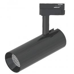 Foco LED 30W BERNA Cromo Negro para Carril Monofásico DOB Driverless 24º - Imagen 2