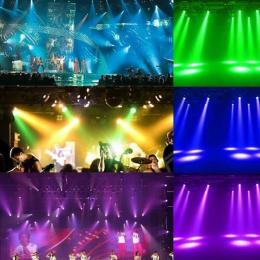 Cabeza Móvil Spot LED 30W BOSTON Blanco + 7 Colores - 7 Gobos Fijos - DMX - Imagen 2