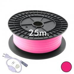 Neón LED CIRCULAR Flexible 220V Bobina 25m 16mm - 9,6W/m - Rosa - Imagen 1