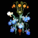 "Aplique Cristal Murano Artesano ""Iris Van Gogh"" 8  x G9 [VAB-APP-6-8]"