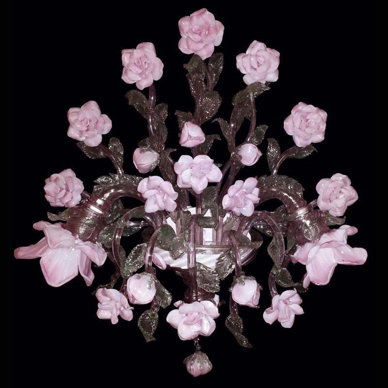 """Aplique Cristal Murano Artesano """"Roseto"""" 2 x E14 [VAB-APP-9-2-LED] - Imagen 1"""