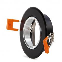 Aro Foco Downlight Circular GU10 Ø84Mm - Negro