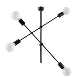 """Lámpara Colgante """"CONCEPT"""" Negro IP20 4xE27 Sin Bombilla [SOL-SL.0712] - Imagen 1"""