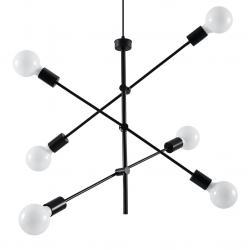 """Lámpara Colgante """"CONCEPT"""" Negro IP20 6xE27 Sin Bombilla [SOL-SL.0713] - Imagen 1"""