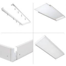 Panel LED Slim 120x60cm 72W 7900lm + Kit de Superficie - Imagen 2