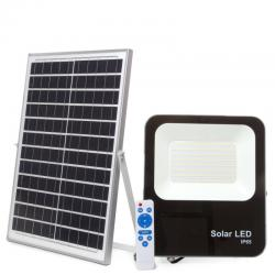 Proyector LED Solar 100W IP65 12000Lm Control Remoto