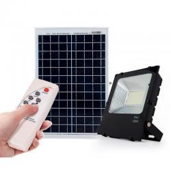 Proyector LED Solar 50W Sensor + Control Remoto Panel 6V/15W 3,7V/12000mAH 350x350x17mm [PLMP-626004-CW]