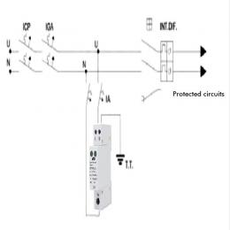 Protector de sobretensión para carril DIN 40 kA - Imagen 2