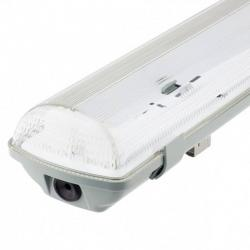 Pantalla estanca para dos tubos LED IP65 120cm
