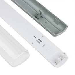 Pantalla estanca para dos tubos LED IP65 60cm - Imagen 2