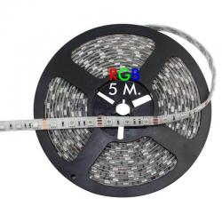Tira LED flexible exterior 14.4W*5m RGB 12V IP65
