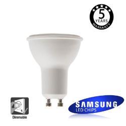 Dicroica LED SMD 6W SAMSUNG REGULABLE 45º GU10 5 Años de Garantía