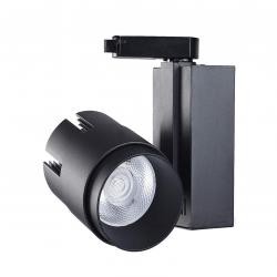 Foco LED 35W LARA Negro Carril Monofásico