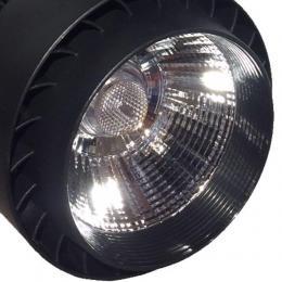 Foco LED 30W NORA Negro Carril Monofásico - Imagen 2