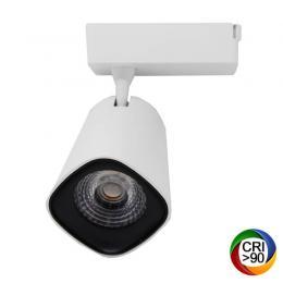 Foco LED 40W LYDIA Blanco Carril Monofásico CRI +90 - Imagen 2