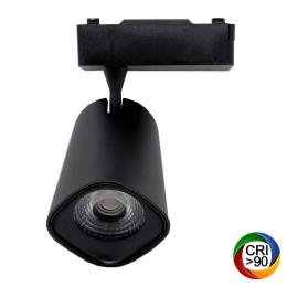 Foco LED 40W LYDIA Negro Carril Monofásico CRI +90 - Imagen 2