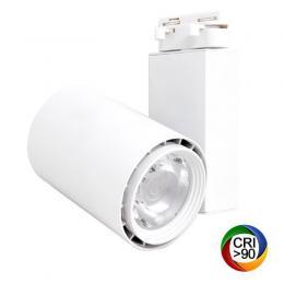 Foco LED 40W BERLIN Blanco Carril Monofásico CRI +90 - Imagen 2