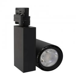 Foco LED 40W BERLIN Negro Carril Trifásico CRI +90