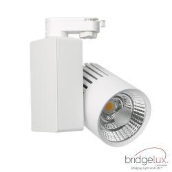 Foco LED 40W GRAZ Blanco BRIDGELUX Chip Carril Monofásico CRI +90