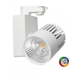 Foco LED 40W GRAZ Blanco BRIDGELUX Chip Carril Monofásico CRI +90 - Imagen 2