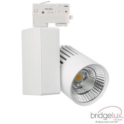 Foco LED 40W GRAZ Blanco Carril TRIFASICO BRIDGELUX Chip CRI +90