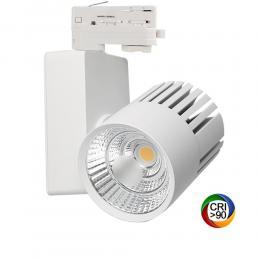 Foco LED 40W GRAZ Blanco Carril TRIFASICO BRIDGELUX Chip CRI +90 - Imagen 2