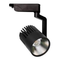 Foco LED 40W PISA Negro Carril Monofásico