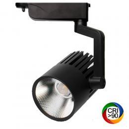 Foco LED 40W PISA Negro Carril Monofásico - Imagen 2