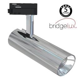 Foco LED 30W BERNA Cromo Plata Carril Monofásico DOB Driverless