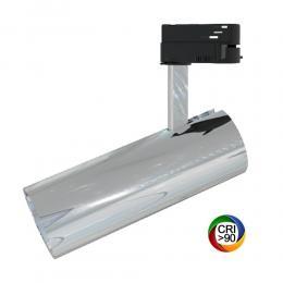 Foco LED 30W BERNA Cromo Plata Carril Monofásico DOB Driverless - Imagen 2