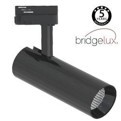 Foco LED 30W BERNA Cromo Negro Carril Monofásico DOB Driverless