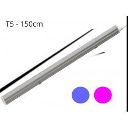 Regleta LED T5 23W 120º G13 Azul y Rosa