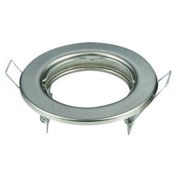 Aro plata envejecida circular para dicroica LED GU10 - MR16